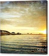 Sunset Over Biloxi Bay Canvas Print