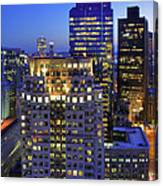 Sunset Over Boston - Financial District Skyline Canvas Print