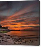 Sunset Over Buzzards Bay Canvas Print