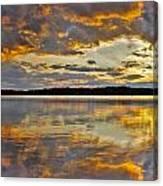 Sunset Over Canobie Lake Canvas Print
