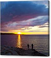 Sunset Over Canso Bay Canvas Print
