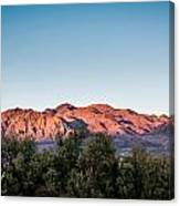 Sunset Over Death Valley Canvas Print