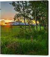 Sunset Over Farmers Field Canvas Print