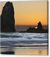 Sunset Over Haystack Needles Rocks Canvas Print