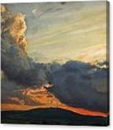 Sunset over Holy Cross Mountains Canvas Print