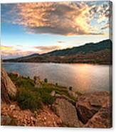 Sunset Over Horsetooth Canvas Print