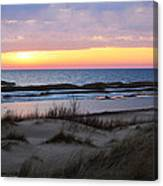 Sunset Over Ice Canvas Print