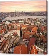 Sunset Over Istanbul Canvas Print