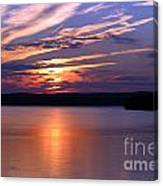 Sunset Over Jordan Canvas Print