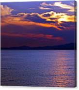 Sunset Over Korcula Canvas Print