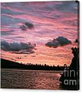 Sunset Over Lake Bailey Canvas Print