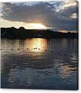 Sunset Over Lake George Canvas Print