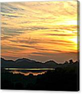 Sunset Over Lake Wohlford Canvas Print
