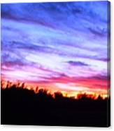 Sunset Over Madisonville Canvas Print
