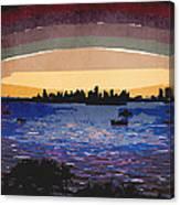 Sunset Over Miami Canvas Print