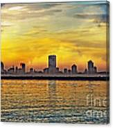 Sunset Over Milwaukee Canvas Print