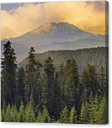 Sunset Over Mount St Helens Canvas Print