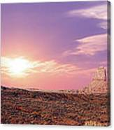 Sunset Over Mountain Valley Canvas Print