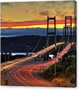 Sunset Over Narrows Bridges Canvas Print