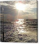 Sunset Over Nj After Fishing Canvas Print