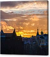 Sunset Over Old Moscow - Featured 2 Canvas Print