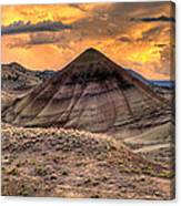 Sunset Over Painted Hills In Oregon Canvas Print