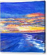 Sunset Over Point Lonsdale As Viewed From Cape Schanck  Canvas Print