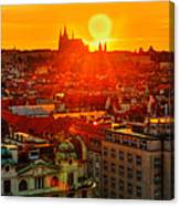 Sunset Over Prague Canvas Print