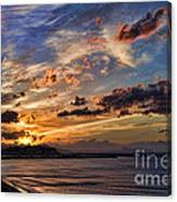 Sunset Over Rethymno Crete Canvas Print