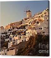 Sunset Over Santorini Village Canvas Print