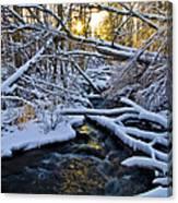 Sunset Over Snowy Mammoth Creek Canvas Print