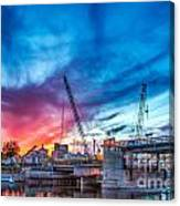 Sunset Over St. Paul Canvas Print