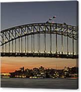 Sunset Over Sydney Harbour Bridge Canvas Print