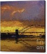 Sunset Over Sydney Harbour A Turneresque View Canvas Print