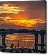 Sunset Over The Bridge Canvas Print