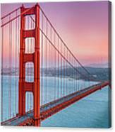 Sunset Over The Golden Gate Bridge Canvas Print