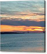 Sunset Over The Golden Gate Canvas Print