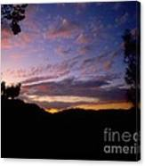 Sunset Over The Hills Canvas Print