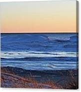 Sunset Over The Ice Canvas Print