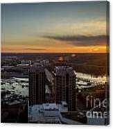 Sunset Over The James Canvas Print