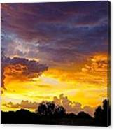 Sunset Over The Mc Dowell Mountains Canvas Print