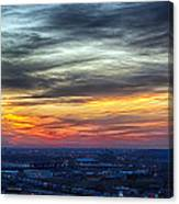 Sunset Over The Metro Canvas Print