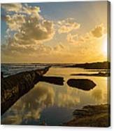 Sunset Over The Ocean II Canvas Print