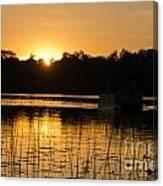 Sunset Over The Pontoon 4 Canvas Print
