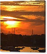 Sunset Over The Salem Willows Canvas Print