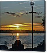 Sunset Over The Solent Canvas Print