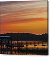 Sunset Over The Wando River Canvas Print
