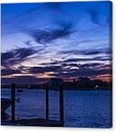 Sunset Over The Waterway Canvas Print