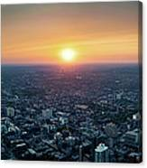 Sunset Over Toronto Downtown City Canvas Print