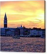 Sunset Over Venice Canvas Print